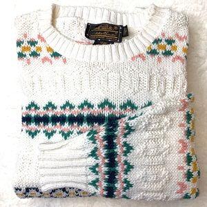 Eddie Bauer 100% Cotton Chunky Knit Summer Sweater